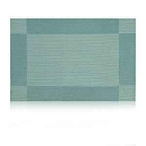 Placemat,U'Artlines Crossweave Woven Vinyl Non-slip Insulation Placemat Washable Table Mats Set
