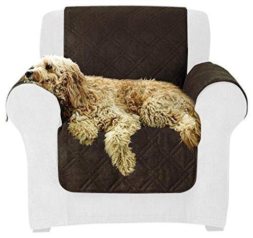 Sure Fit Microfiber Pet - Sofa Slipcover  - Chocolate (SF44898) (Sectional Surefit)