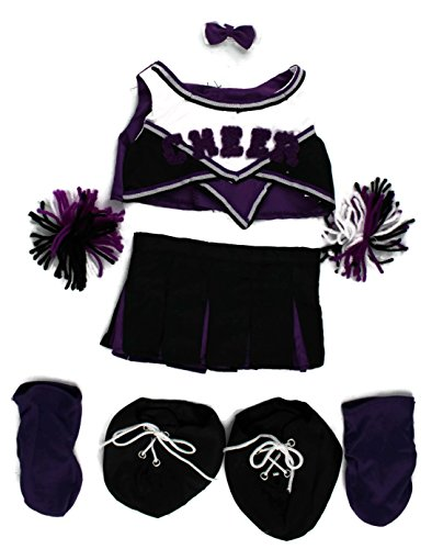 Dear Baby Gear Animal and Outfit Collection Mix And Match, Cheerleader Purple Outfit Only ()