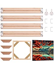 GORGECRAFT Solid Canvas Stretcher Frames Premium Pine Wood Strips Bar Set for Oil Paintings Poster Prints DIY Arts Accessory Materials Supply, 8x8inch