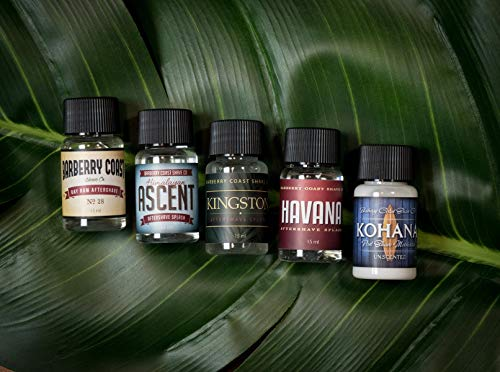 - Aftershave Samples Pack by Barberry Coast - Perfect for sampling or travel - Natural and Pure Ingredients