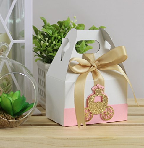 All About Details Shimmer Pink & Gold Princess Carriage Favo