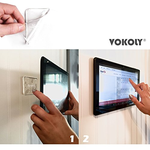 VOKOLY, Universal non-slip mats,Sticky Anti-Slip Gel Pads,Stick to Anywhere&Holds Anything (8 PACK Clear) by VOKOLY (Image #2)