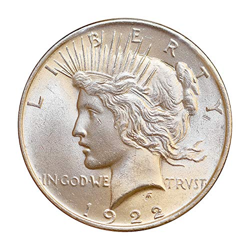 BU 1922-P Peace Silver Dollar Brilliant Uncirculated