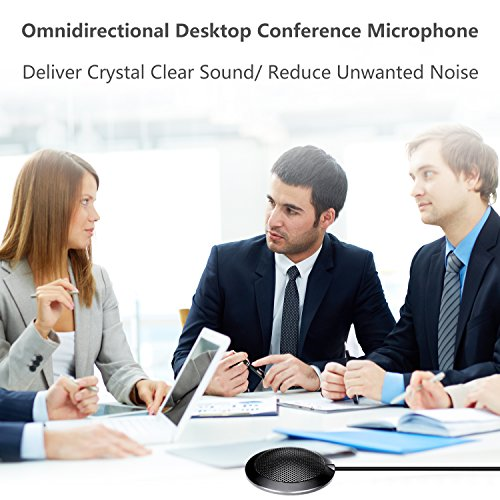 eBerry USB Boundary Microphone, Omnidirectional Desktop Conference Meeting Mic with 9.6 Feet USB Cable for Teleconferencing Meetings, Desktop Computer Use (Dimension:2.7 x 2.7 x 0.6 Inch) by eBerry (Image #3)