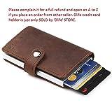 Dlife Credit Card Holder RFID Blocking Wallet Slim Wallet PU Leather Vintage Aluminum