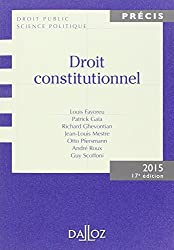 Droit constitutionnel. Édition 2015 - 17e éd.