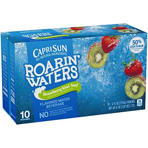 Capri Sun Fruit - Capri Sun Roarin' Waters Strawberry Kiwi Juice Drink (6 oz Pouches, 10 Count)