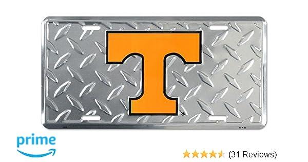Tennessee Volunteers Tag Diamond Etched on Aluminum License Plate