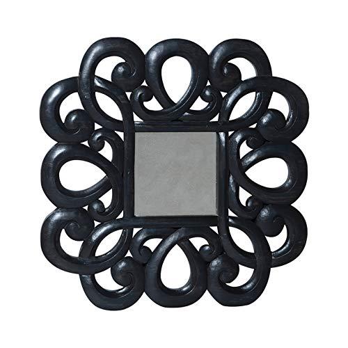 - Curled Antiqued Beveled Mirror