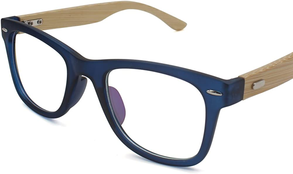 ZAKLINA Bamboo Glasses Frames With Clear Lens Eyeglasses For Women Men