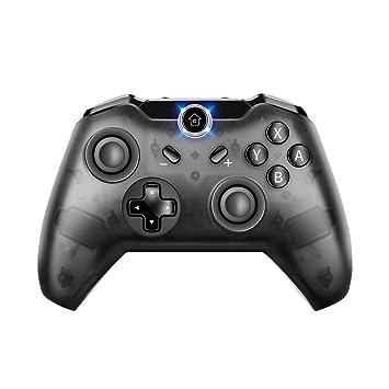 Mando inalámbrico para Nintendo Switch, PowerLead Wireless Controller Gamepad de juegos admite la función de eje giroscópico y Dual Viabration ...