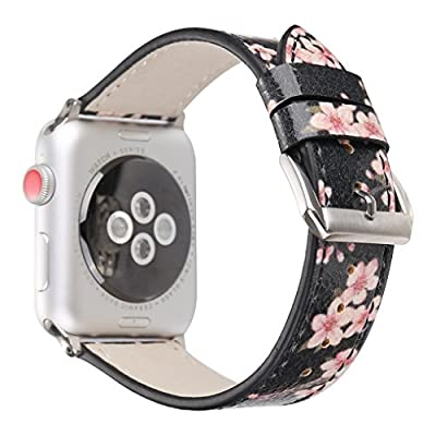2018 Newest Band For Apple Watch iWatch 38mm/42mm Series 1/2/3 Leather Replacement With Metal Adapter