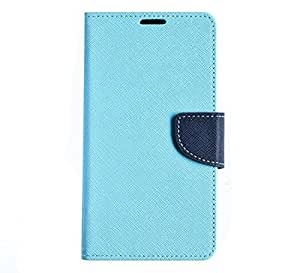 Buckles TPU And PU Leather Deluxe Book Style Folio Stand Leatherette Wallet Screen Case Cover For 4.7 iPhone 6 (Light Blue)