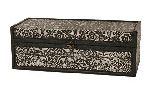 Wald Imports Silver Metal & wood  Decorative Storage Box/Trunk