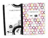 Geometric Hexagon Comp Notebook and Graph Notebook ~ Pack of 2