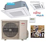 Fujitsu - 1.5 Ton 18000 BTU Cooling Heating - Ductless Compact Ceiling Cassette Air Conditioning System - 20.1 SEER 10 Yrs Warranty