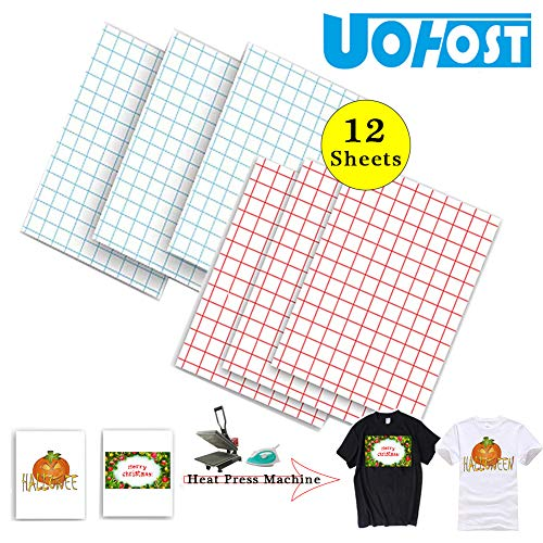 12Sheets A4 T-Shirt Heat Transfer Paper for Dark T-Shirt White T-Shirt Iron-On Transfers Paper DIY Christmas Halloween Shirt£¬UOhost