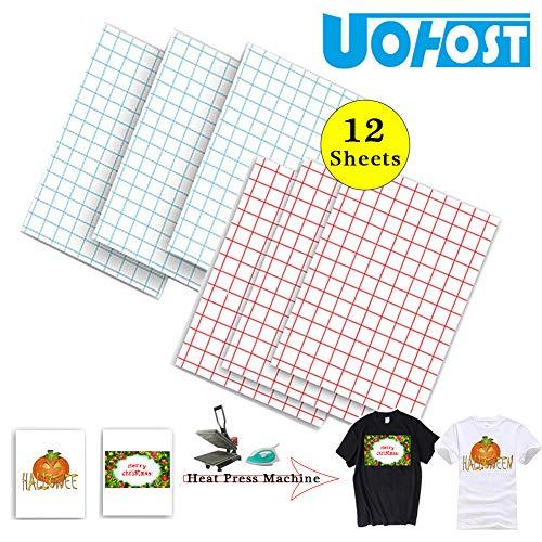 12Sheets A4 T-Shirt Heat Transfer Paper for Dark T-Shirt White T-Shirt Iron-On Transfers Paper DIY Christmas Halloween Shirt£¬UOhost -