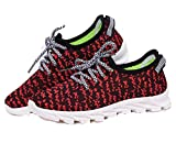 Yeezy Shoes Boost 350 Best Deals - Mens Womens Unisex Couple Casual Fashion Sneakers Breathable Athletic Running Shoes (11.5, Red)