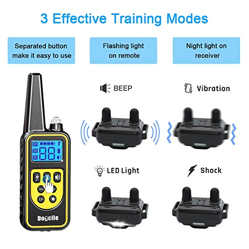 Dog Training Collar, Dog Shock Collar with Remote 2500FT Shock Collar for Dogs IPX7 Waterproof...