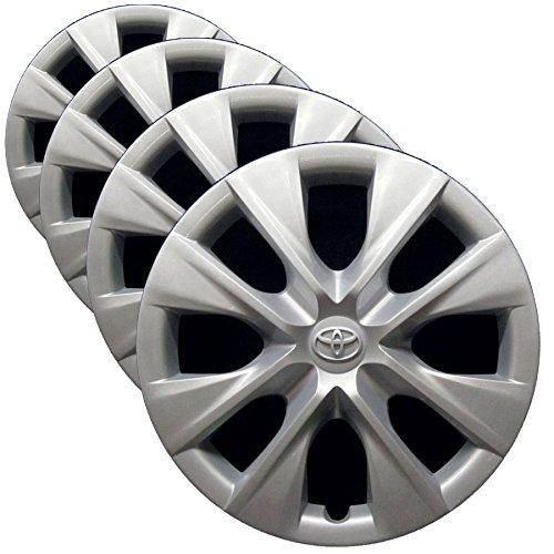 OEM genuino de, color de 15 pulgadas para tapacubos de repuesto de fábrica 2014 - 2017 toyota corolla (Juego de 4 fundas para ruedas de profesionalmente ...