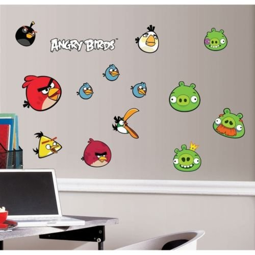 ANGRY BIRDS wall stickers 34 big decals room decor scrapbooking pigs mobile game from Wall Decal