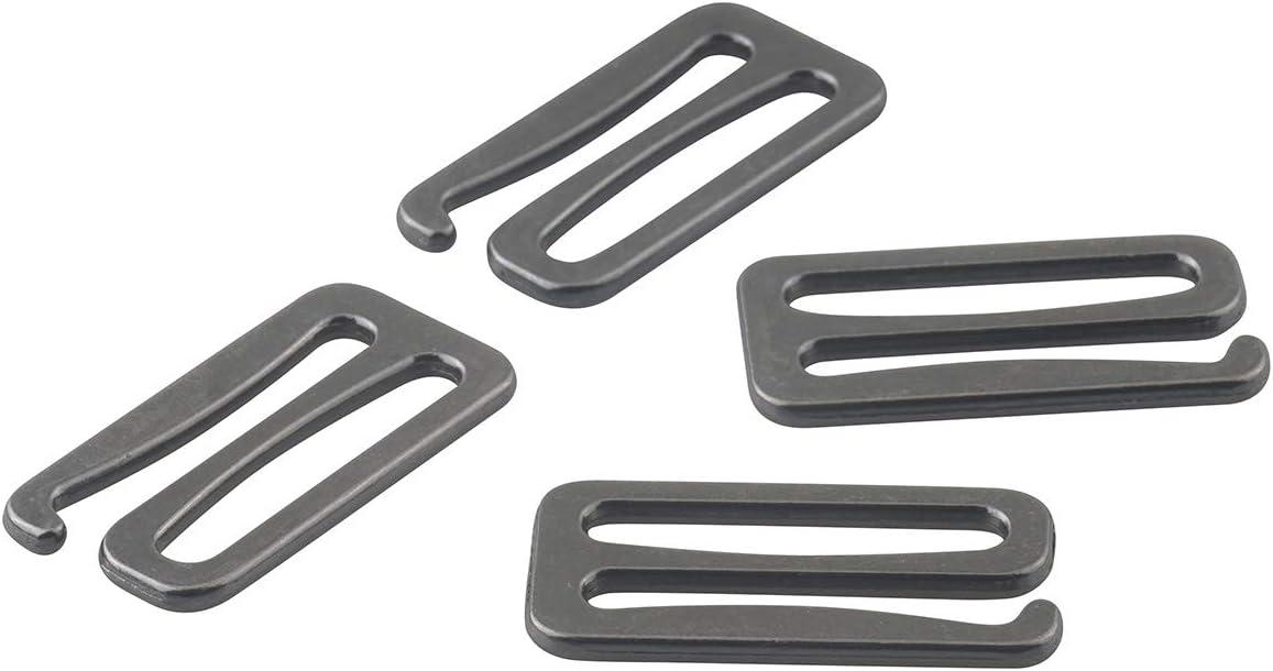 ALLinONE Metal Replacement Bra Strap Slide Hook Swimsuit Bra Hooks Antique Bronze 1 inch