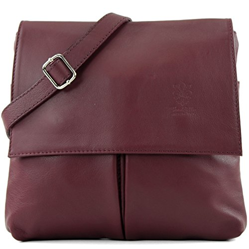 Italian Red bag real leather T63 bag shoulder bag Wine satchel messenger women's FZrFS