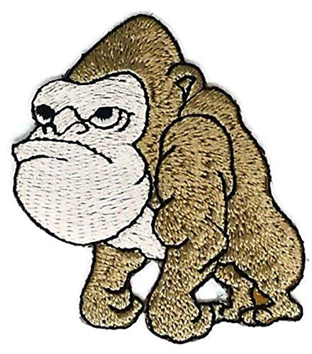 2.0 inches x 2.5 inches Baby Gorilla Monkey Animal Wild Life Cartoon kid Sew Iron on Embroidered Applique Craft Handmade Baby Kid Girl Women Cloths DIY Costume (Gorilla Costume Diy)