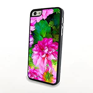 Generic Liveliy Flowery Charming Flowers Matte Pattern PC Phone Cases fit for Cute Colorful iPhone 5/5S Cases