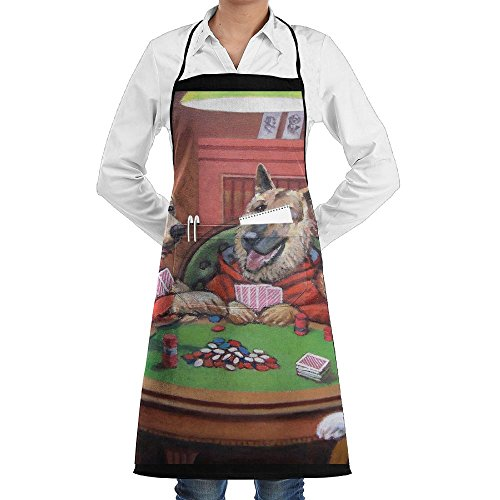 Poker Dog Play (Funny Play Poker With A Dog Unisex Chef's Apron Deluxe Personalities Aprons)