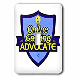 Dooni Designs – Funny Sarcastic Advocate Designs - Online Gaming Advocate Support Design - Light Switch Covers - single toggle switch (lsp_242740_1)