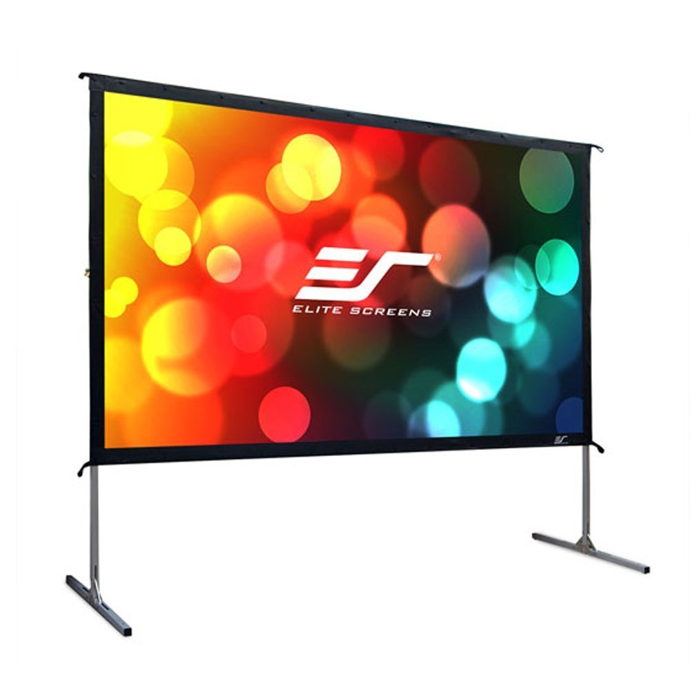 Elite Screens Yard Master 2, 100-inch 16:9, Foldable Folding Frame Outdoor Front Projection Movie Projector Screen, OMS100H2