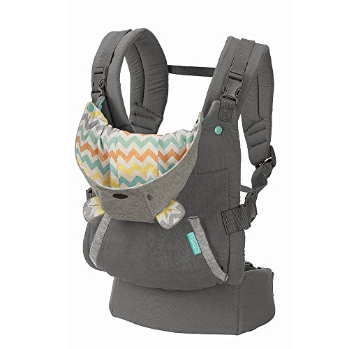 Infantino Cuddle Up Ergonomic Hoodie Baby Carrier, Grey