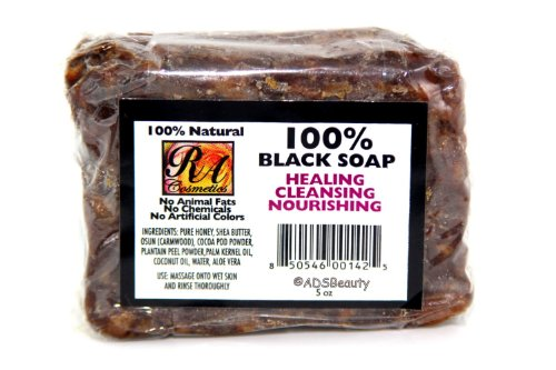 100% Natural Black Soap 5oz