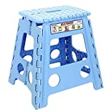 Maddott Super Strong Folding Step Stool for Adults and Kids,11x8.5x15inch, Holds up to 250 Lb, Blue