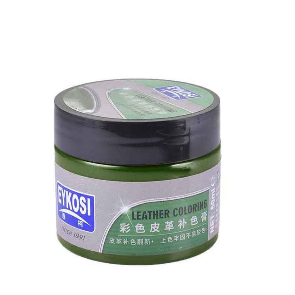 LLguz Leather Restorer Cleaner 50ML Repair Cream Set with Cleaning Tool Renovated Coating Color Repair Paste Remover Conditioner Maintenance Agent for Car Seat Furniture Sofa Coat Shoes (Army Green)