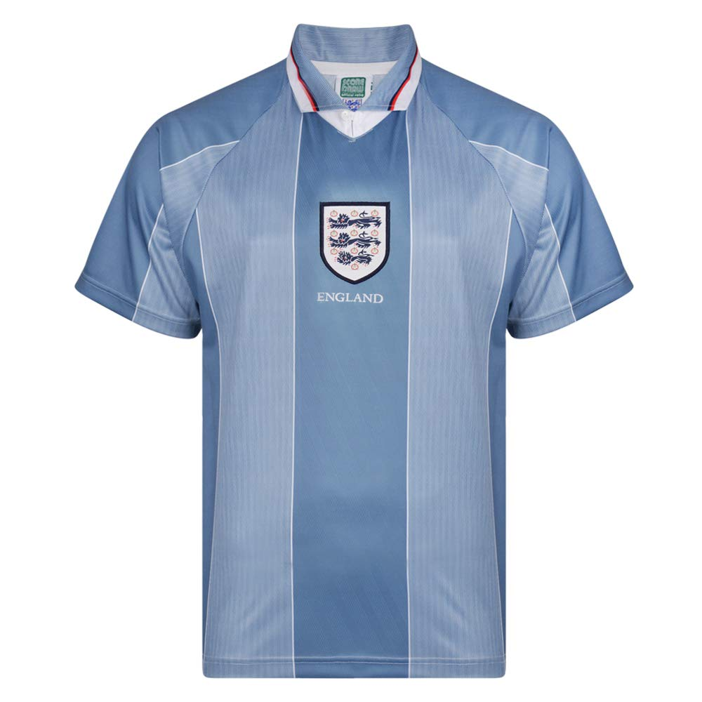 36fdc9f76bb Official Retro England 1996 Away Euro Championship Retro Shirt 100%  POLYESTER