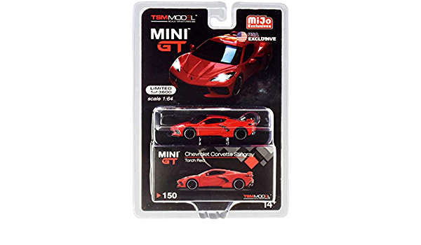 2020 MINI GT 2020 C8 CHEVROLET CORVETTE STINGRAY RED TSM MODEL MIJO EXCL #150
