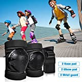 DEKINMAX Knee Pads for Kids & Youth Protective Gear Set, Knee Pads Elbow Pads with Wrist Guards 3 in 1 for Biking, Skating, and Rollerblading Scooter