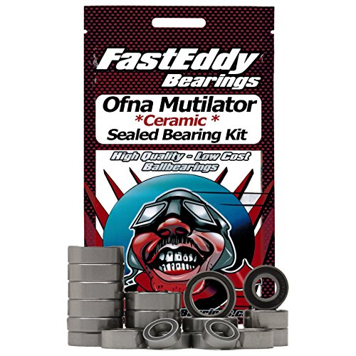 Ofna Mutilator Ceramic Rubber Sealed Ball Bearing Kit for RC Cars -  FastEddy Bearings, Ofna-Mutilator-RSC