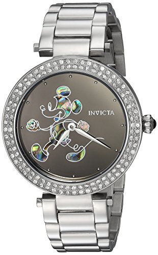 Invicta Women's 'Disney Limited Edition' Quartz Stainless Steel Casual Watch, Color:Silver-Toned (Model: 23780)