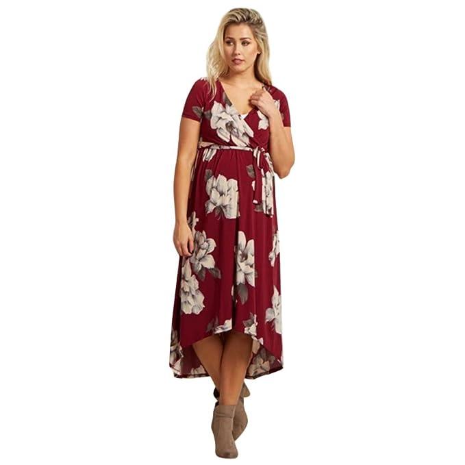 e332820c4 SamMoSon 2019 Camiseta Lactancia Vestido Lactancia Jersey Mujer Verano  Tallas Grandes Vestidos De Fiesta