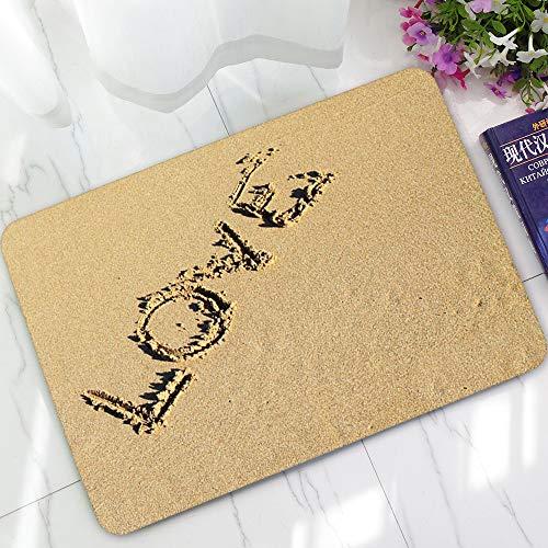 Kangma Anti-Skid Water Absorbent Pad Soft Indoor Carpet Bathroom Mats Front Door Kitchen Funny Doormats Personalized Durable Area Rugs 40 60 cm (Rug Jute Target)