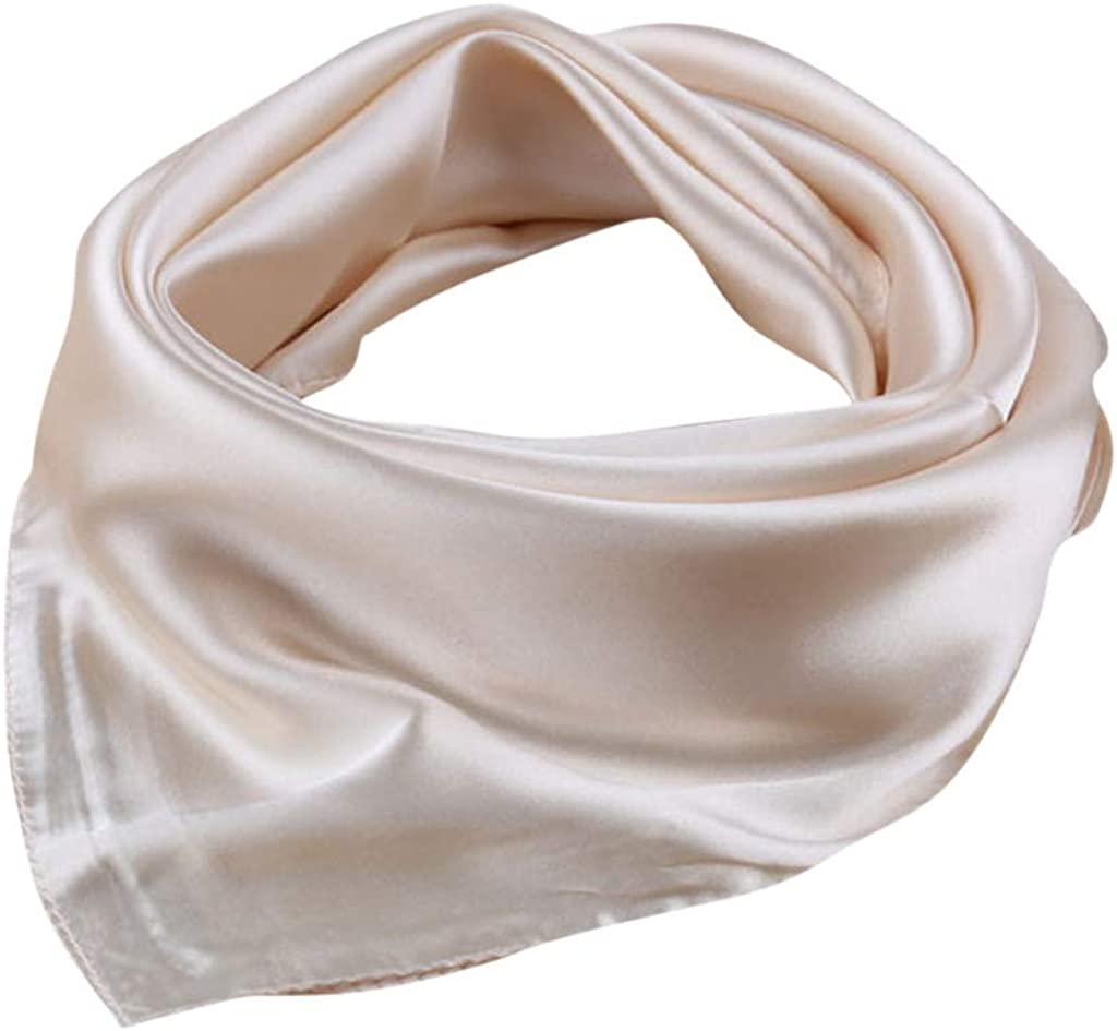 Shan-S Womens Small Scarf Fashion Solid Color Square Silk Scarf Summer Sun UV Protection Face Guard Breathable Sunscreen Bandana Neck Gaiter for Travel Beach Cycling Hiking Fishing
