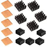 heat sink computer - Easycargo 15 pcs Raspberry Pi Heatsink Kit Aluminum + Copper + 3M 8810 thermal conductive adhesive tape for cooling cooler Raspberry Pi 3, Pi 2, Pi Model B+