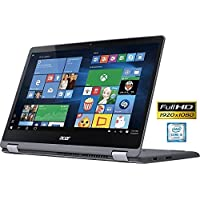 2017 Acer R5-571T 2-in-1 Flagship Premium Convertible Laptop (15.6 Inch FHD IPS Touchscreen, Intel Core i5-6200U up to 2.8GHz, 8GB RAM, 1TB HDD, Intel HD 520, Windows 10 Home) (Certified Refurbished)