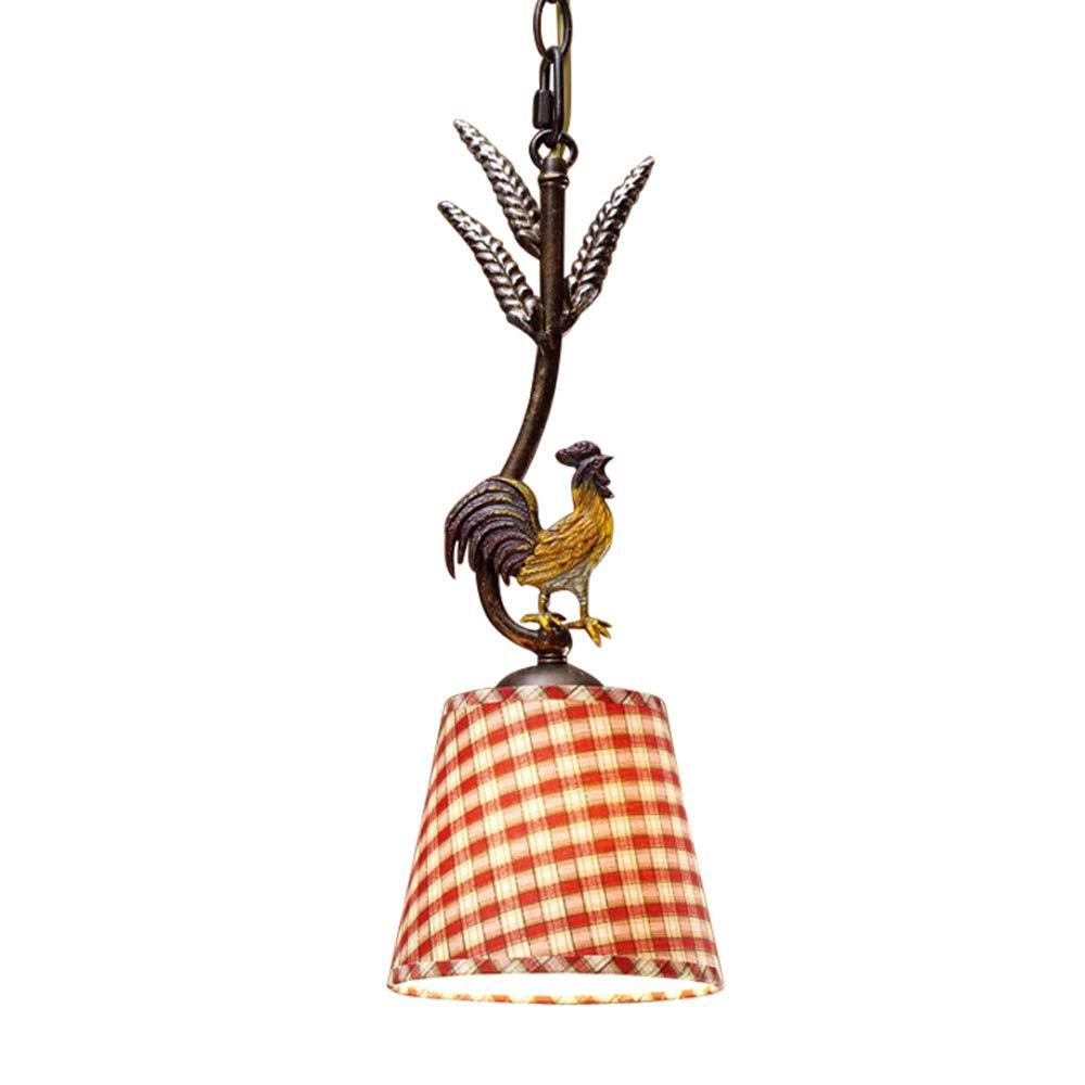 Mpotow American Country Einfache Europäische Retro Lampen Oendant Lampe Schmiedeeisen Stoffschirm Einzigen Kopf E14 Deckenleuchte Bar, Gang, Restaurant Licht, Dekorative Lampen Hangingn Lampe