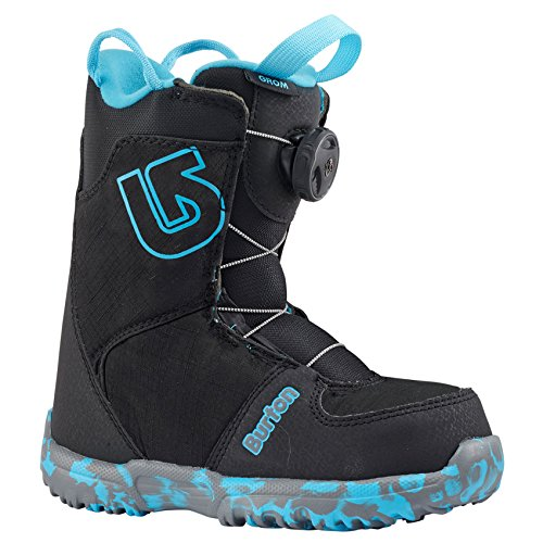 Burton Boy's Grom Boa '18 (Little Kid) Black (Burton Grom Snowboard Boots)